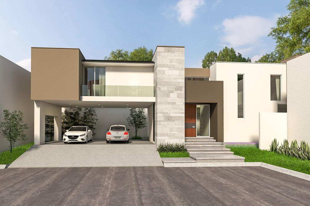 Houses by Indigo Arquitectos, Minimalist Stone