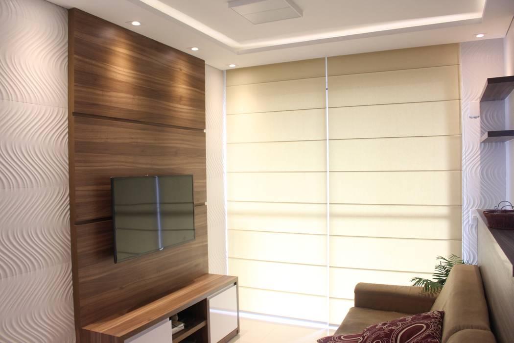 Salas / recibidores de estilo  por Concept Engenharia + Design