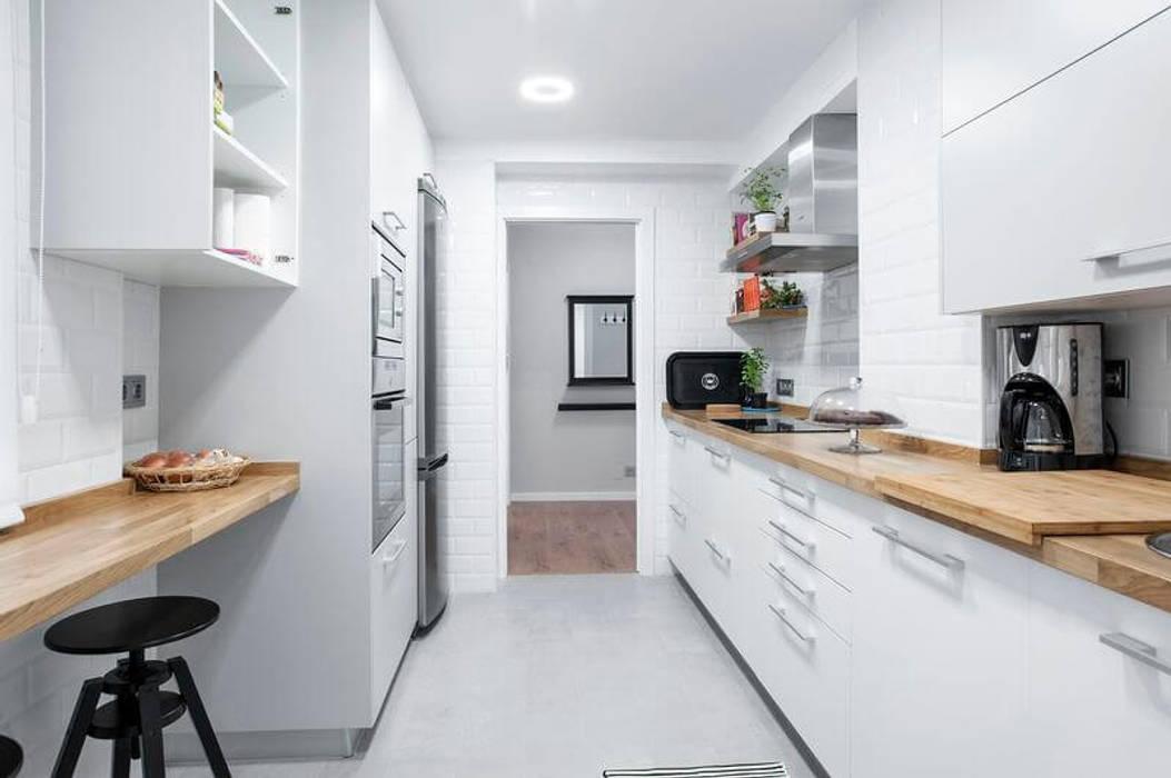 Reforma piso en a coru a dise o estilo escandinavo - Cocinas en coruna ...