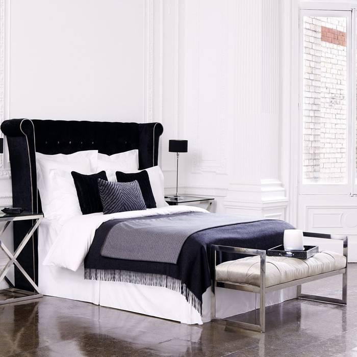 Recámaras Conexo. Dormitorios modernos Madera maciza Negro