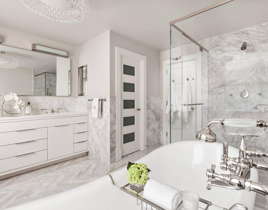 Master Bath Clean Design 現代浴室設計點子、靈感&圖片