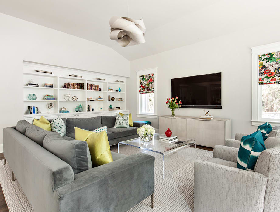 Family Room Modern Living Room by Clean Design Modern