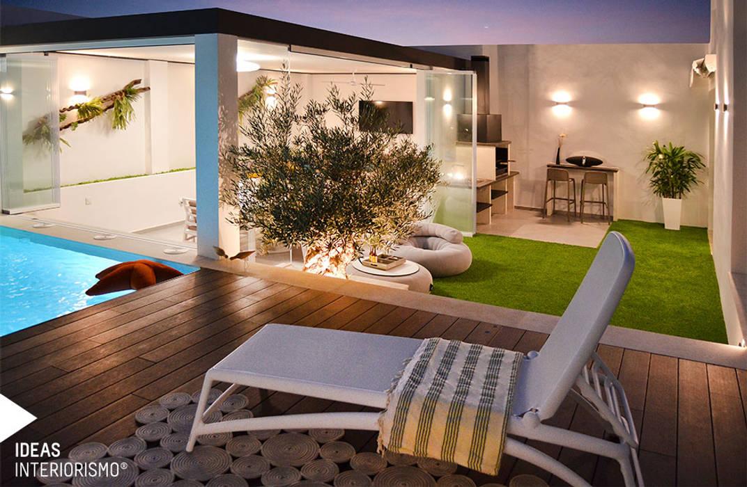 Terraza De Diseño En Valencia Balcones Y Terrazas De Estilo