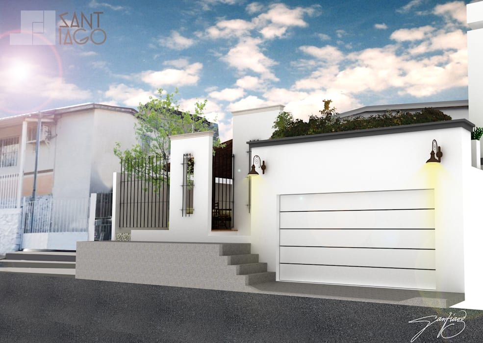 Houses by SANT1AGO arquitectura y diseño, Minimalist Bricks