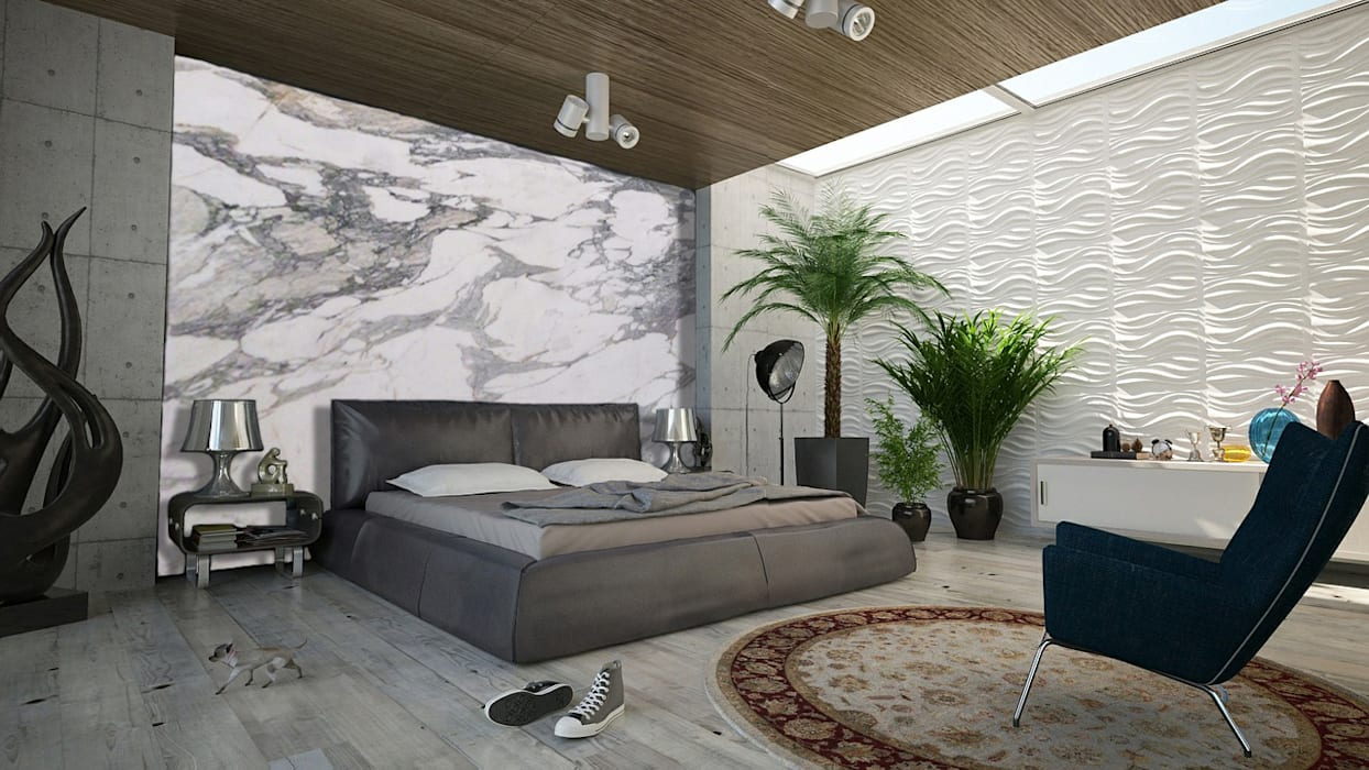 Elalux Tile Kamar Tidur Modern Marmer Grey