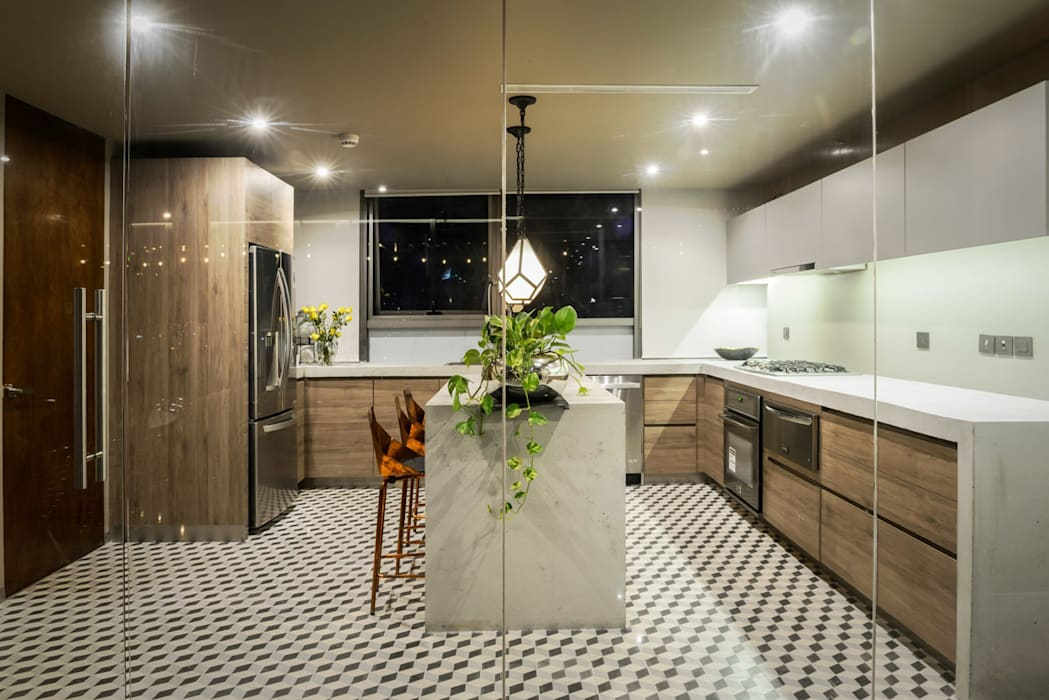 PH Fuentes - P+0 Arquitectura Cocinas de estilo moderno de pmasceroarquitectura Moderno Concreto