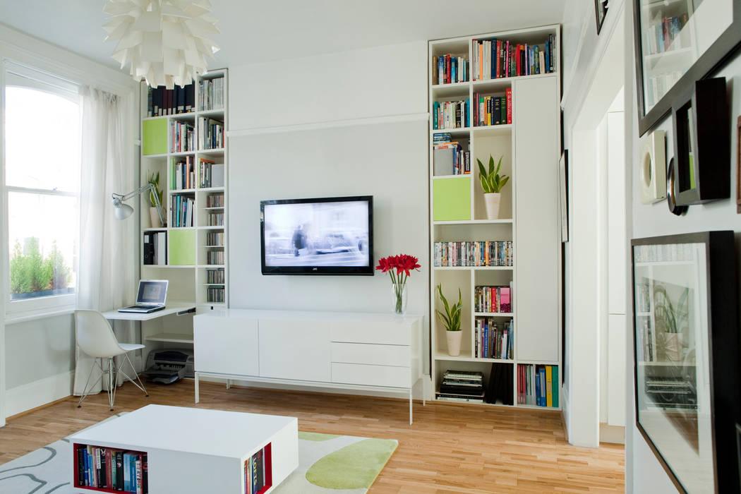 Living room Brosh Architects Salones de estilo moderno