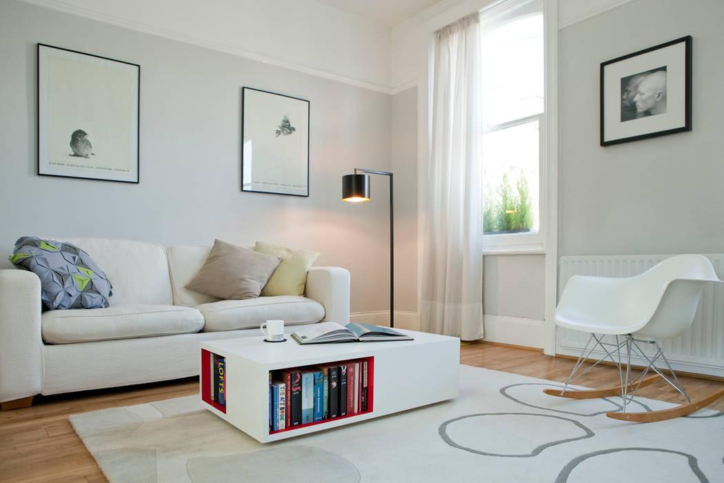 Living room Brosh Architects Moderne Wohnzimmer