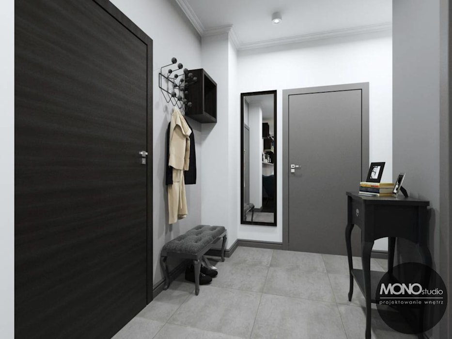 Pasillos, vestíbulos y escaleras de estilo moderno de MONOstudio Moderno
