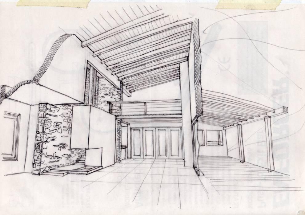 Casa en Valeria del Mar Livings modernos: Ideas, imágenes y decoración de Diego Porto Arquitecto Moderno