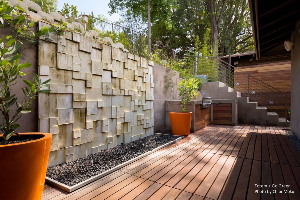 Totum / GoGreen - Litner Remodel - Exterior 5 Moderner Garten von Chibi Moku Modern Beton