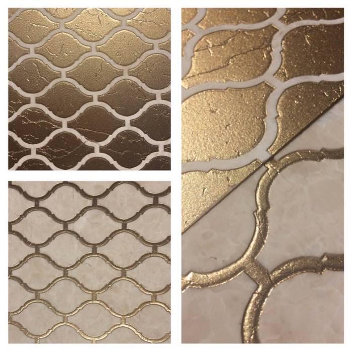 Elalux Tile Dinding & Lantai Modern Marmer Amber/Gold