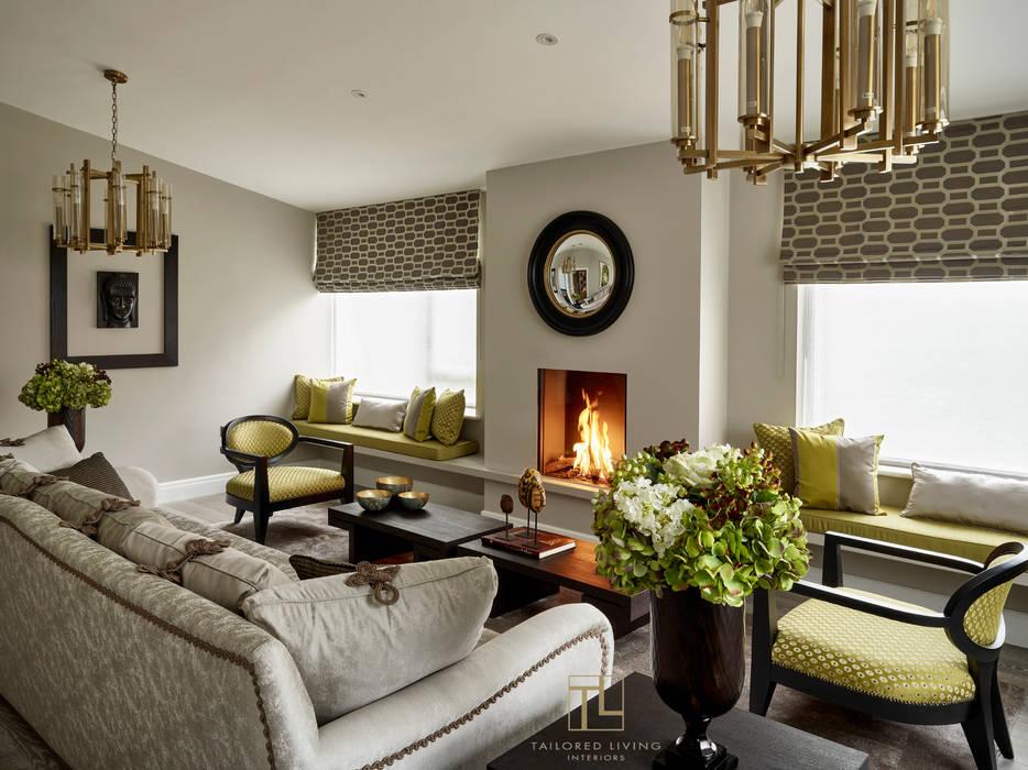 Living Room Salas de estar modernas por Tailored Living Interiors Moderno