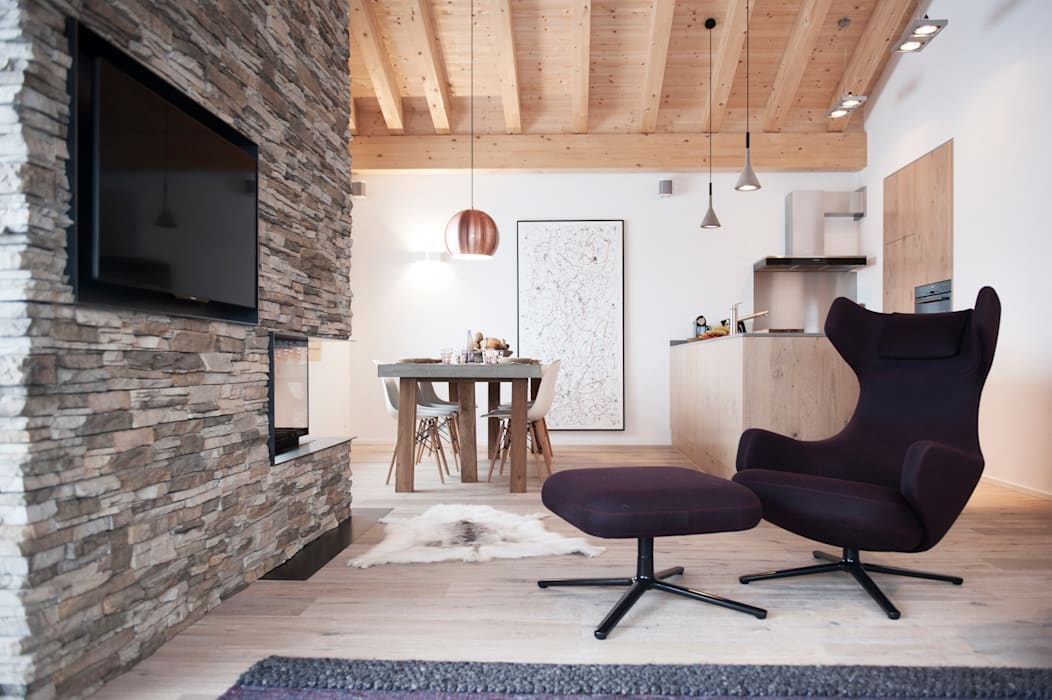 Living room by Mood Interieur, Modern Stone