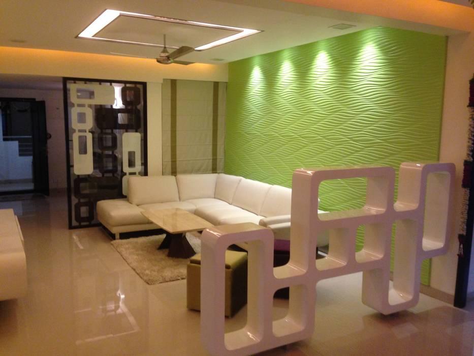 507 meenakshi Modern living room by KEYSTONE DESIGN STUDIOS Modern