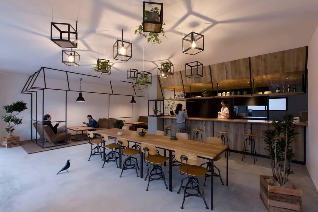 Estudios y despachos de estilo  de ALTS DESIGN OFFICE, Rústico Hormigón