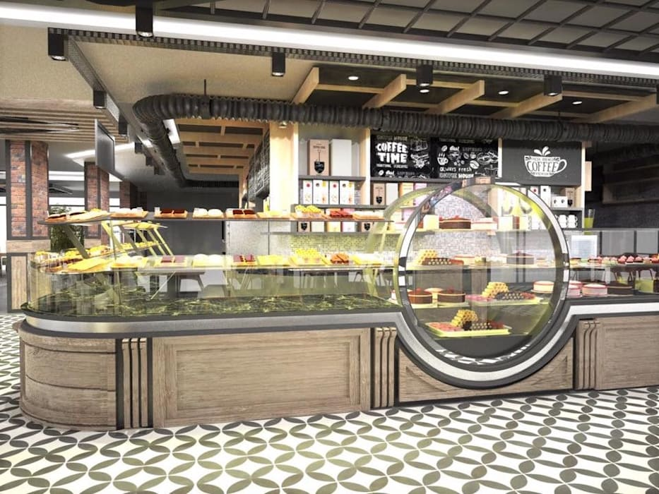 Murat Aksel Architecture – Sivas / amade restaurant cafe:  tarz Yemek Odası