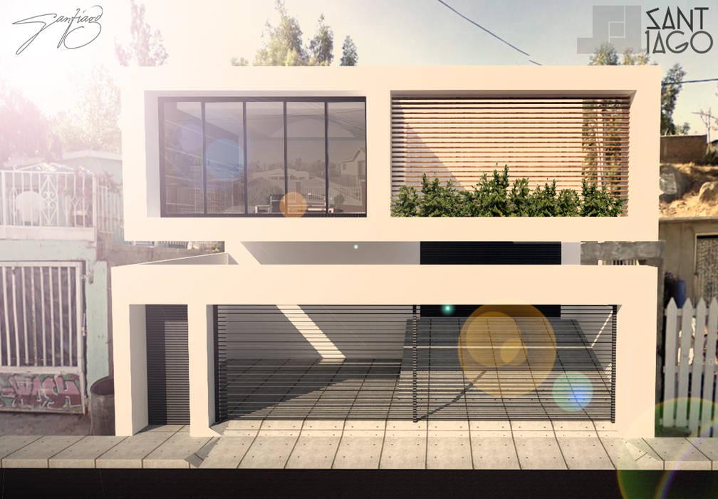 Taller de Torno: Estudios y oficinas de estilo minimalista por SANT1AGO arquitectura y diseño