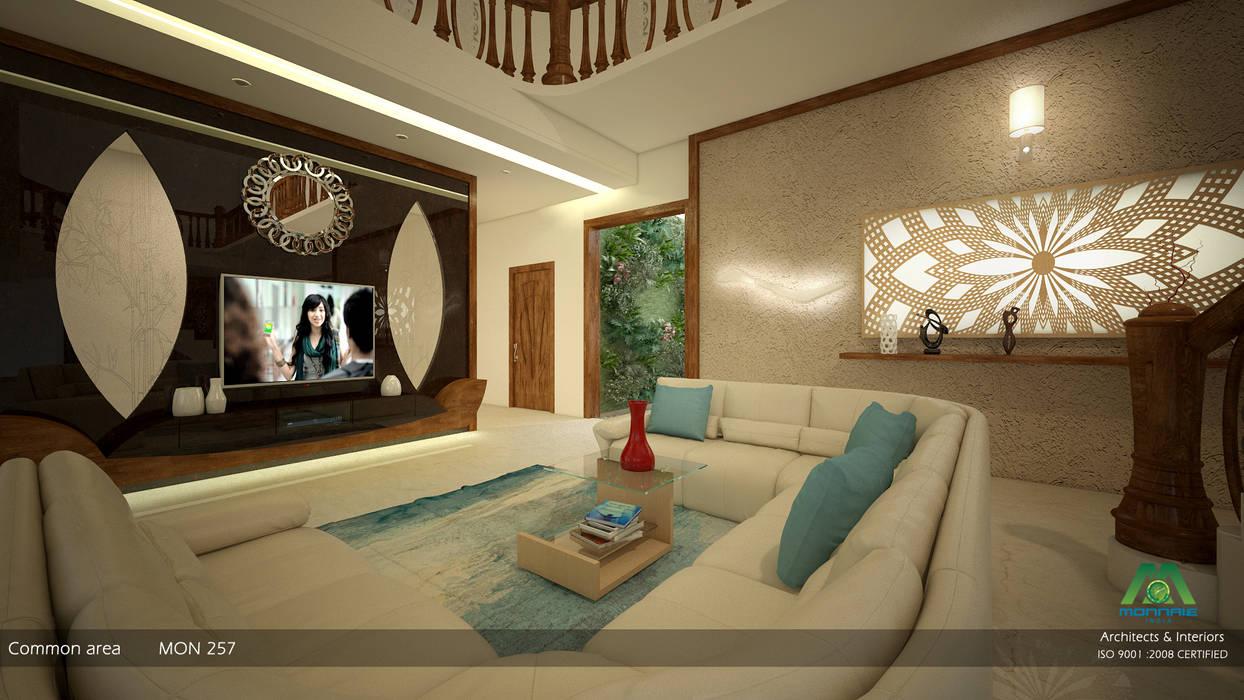 Interiors With Ultra Modern Designs Premdas Krishna Modern Living Room Homify