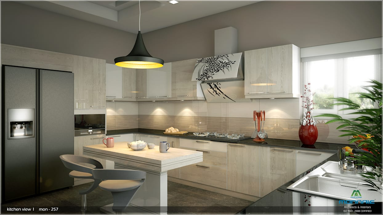 Interiors with Ultra Modern Designs:  Kitchen by Premdas Krishna