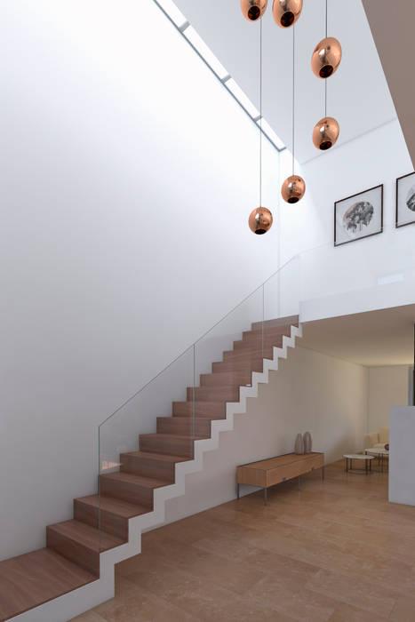 Vivienda RD: Pasillos y recibidores de estilo  por Proyectarq