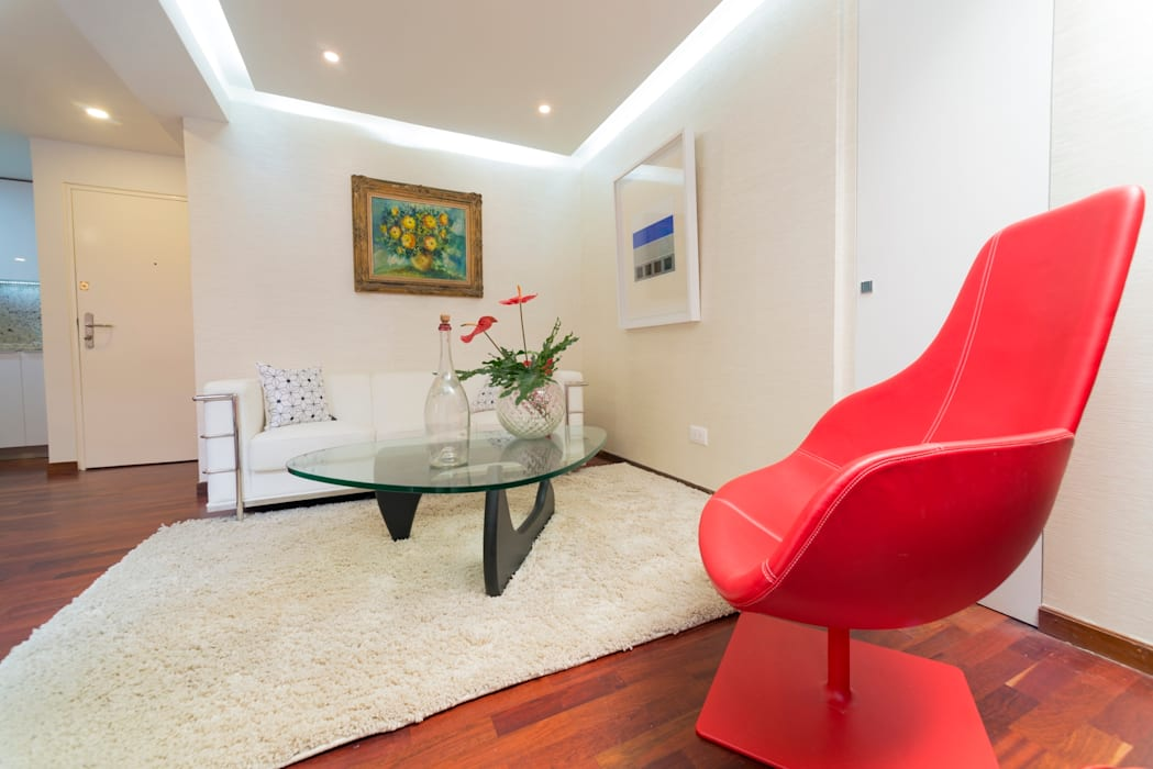 现代客厅設計點子、靈感 & 圖片 根據 Objetos DAC 現代風