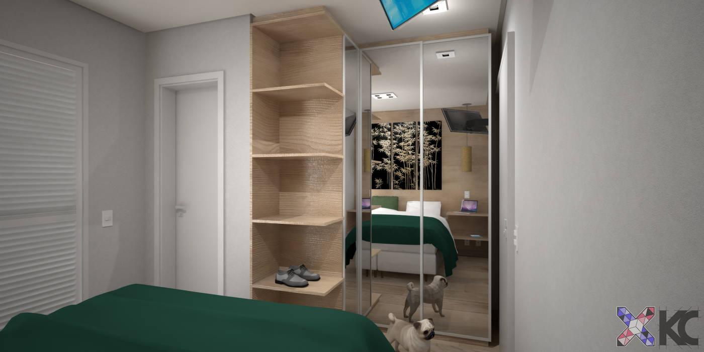 Dormitorios de estilo moderno de KC ARQUITETURA urbanismo e design Moderno
