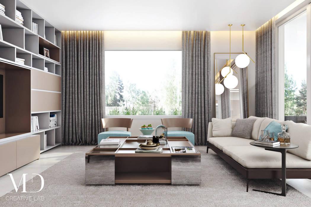 Ruang Keluarga Modern Oleh Md Creative