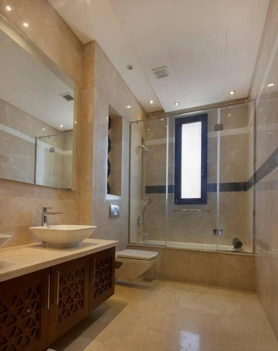 تشطيب شقة 6 اكتوبر:  حمام تنفيذ YAS interior designs, حداثي