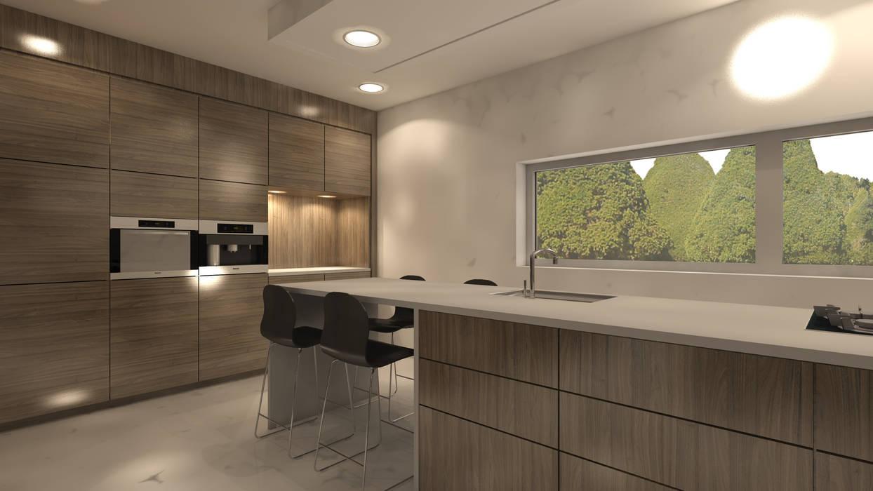 Kookeiland modern keuken door studio deevis homify
