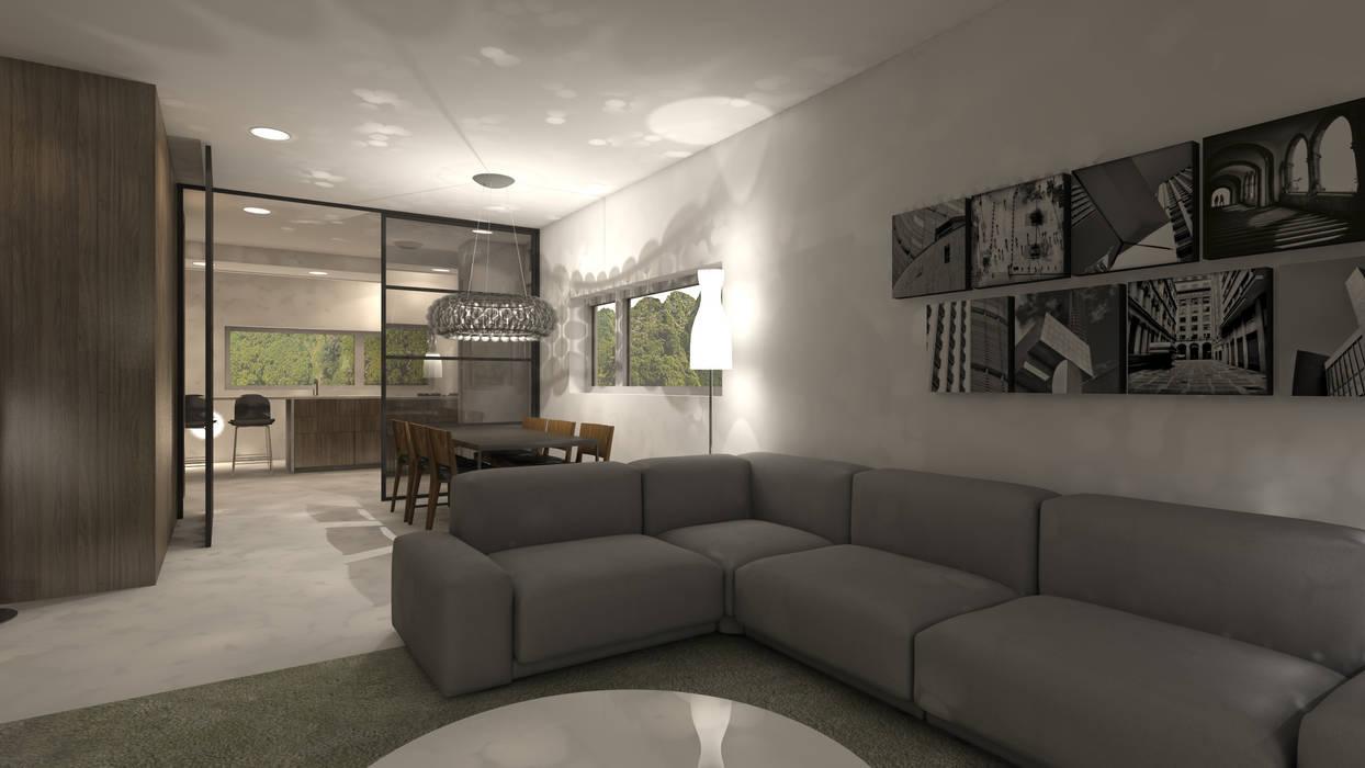 Eetkamer In Woonkamer : Ontwerp woonkamer eetkamer woonkamer door studio deevis homify