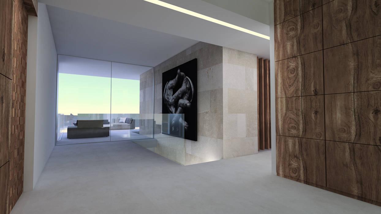 Hall D Entrée Moderne hall d'entrée couloir, entrée, escaliers modernes par