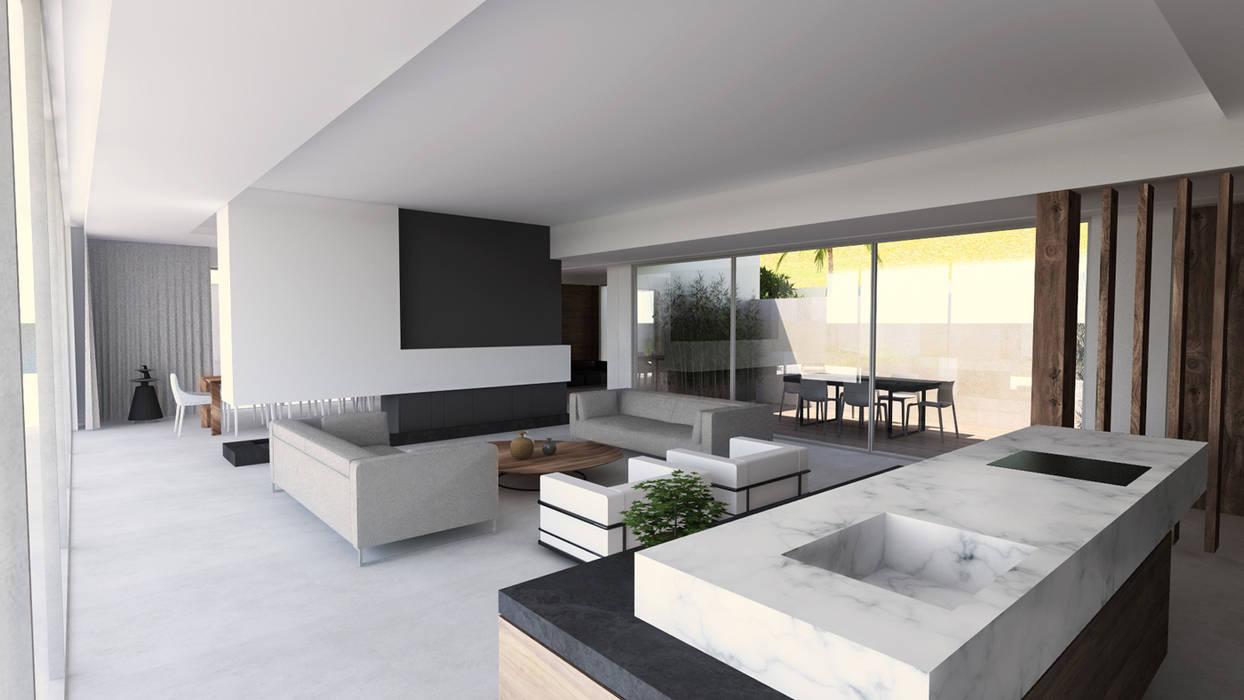 Intérieur villa contemporaine dans le var salon de style par sebastien belle
