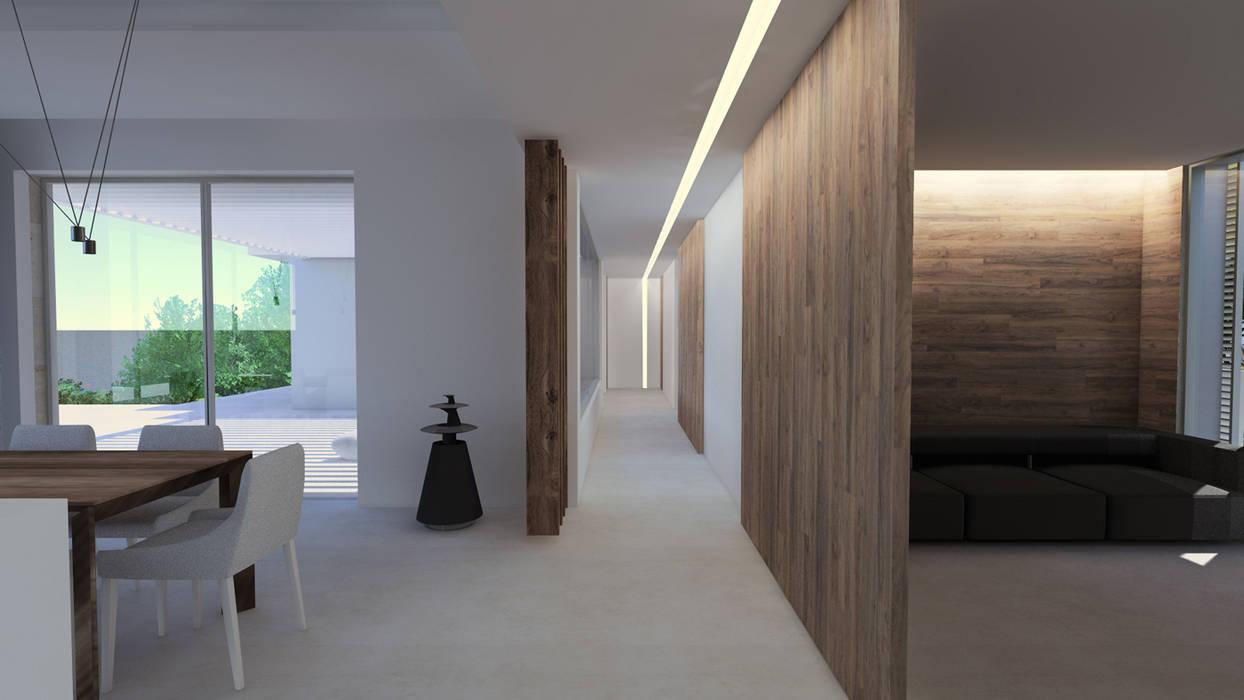 Hall D Entrée Moderne intérieur villa contemporaine dans le var couloir, entrée