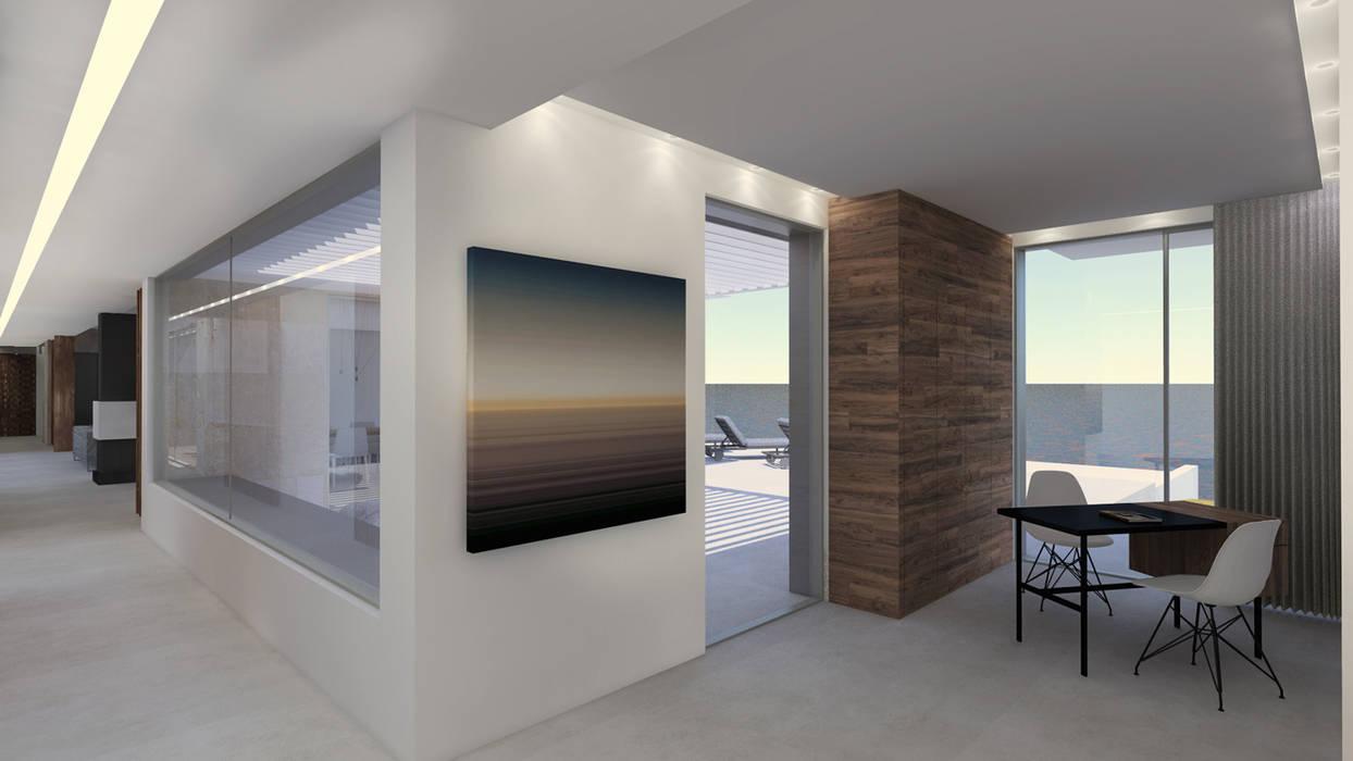 Intérieur villa contemporaine dans le var bureau de style par sebastien belle