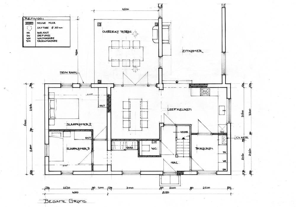 plattegrond landelijke woning: huizen door bob romijnders