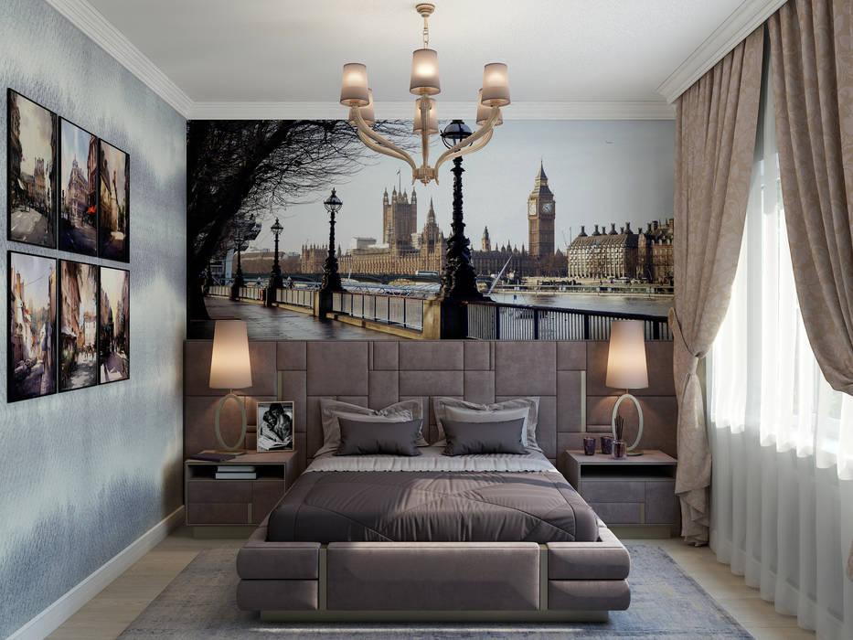 """Спальня """"London"""": Спальни в . Автор – Студия дизайна Дарьи Одарюк"""