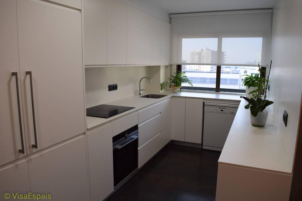 Reforma integral de cocina con office cocinas de estilo de visaespais homify - Reforma integral cocina ...