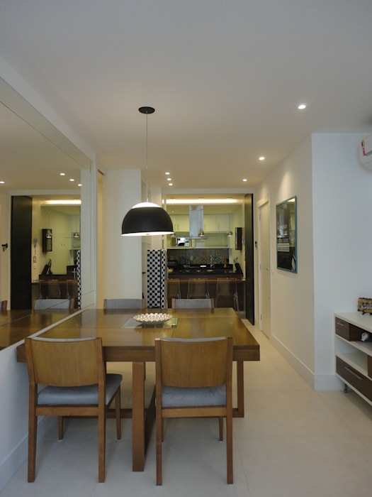 Ruang Makan oleh Maria Helena Torres Arquitetura e Design, Modern