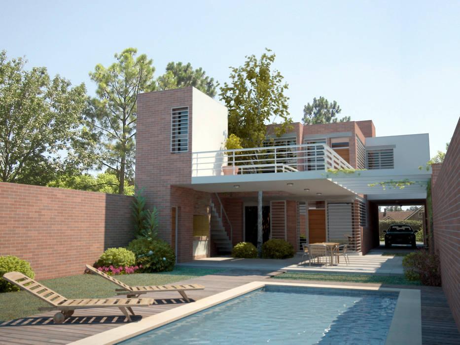 Vivienda PL: Casas de estilo  por Proyectarq