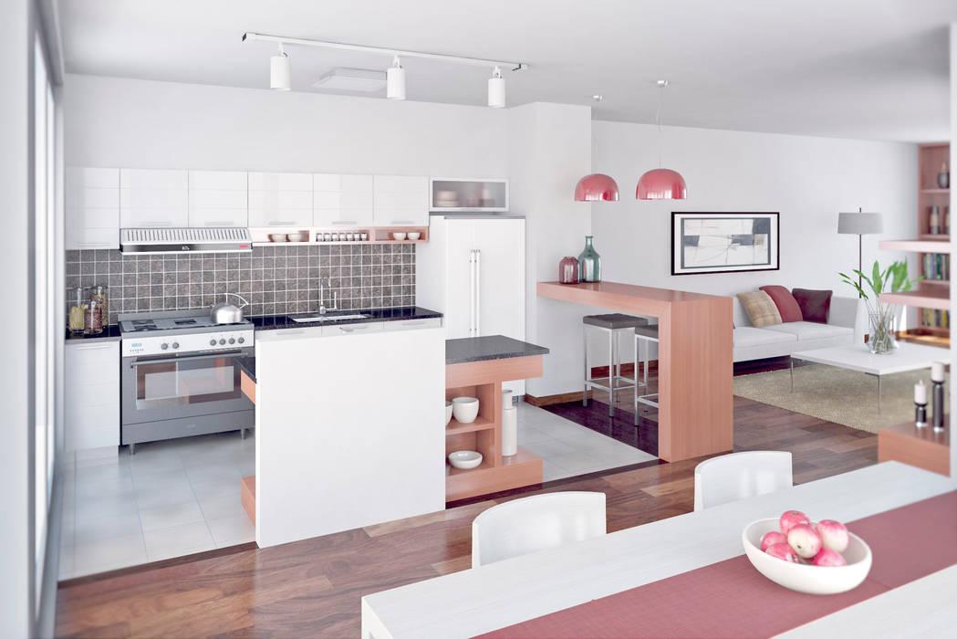 Vivienda PL: Cocinas de estilo  por Proyectarq