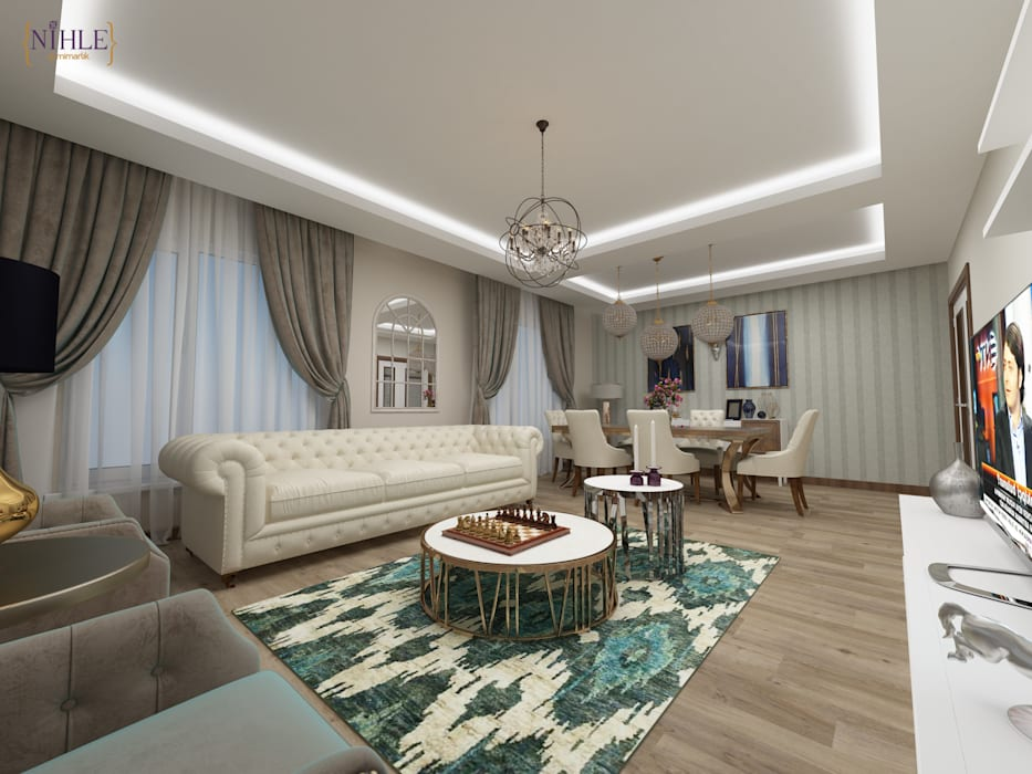 Modern living room by nihle iç mimarlık Modern