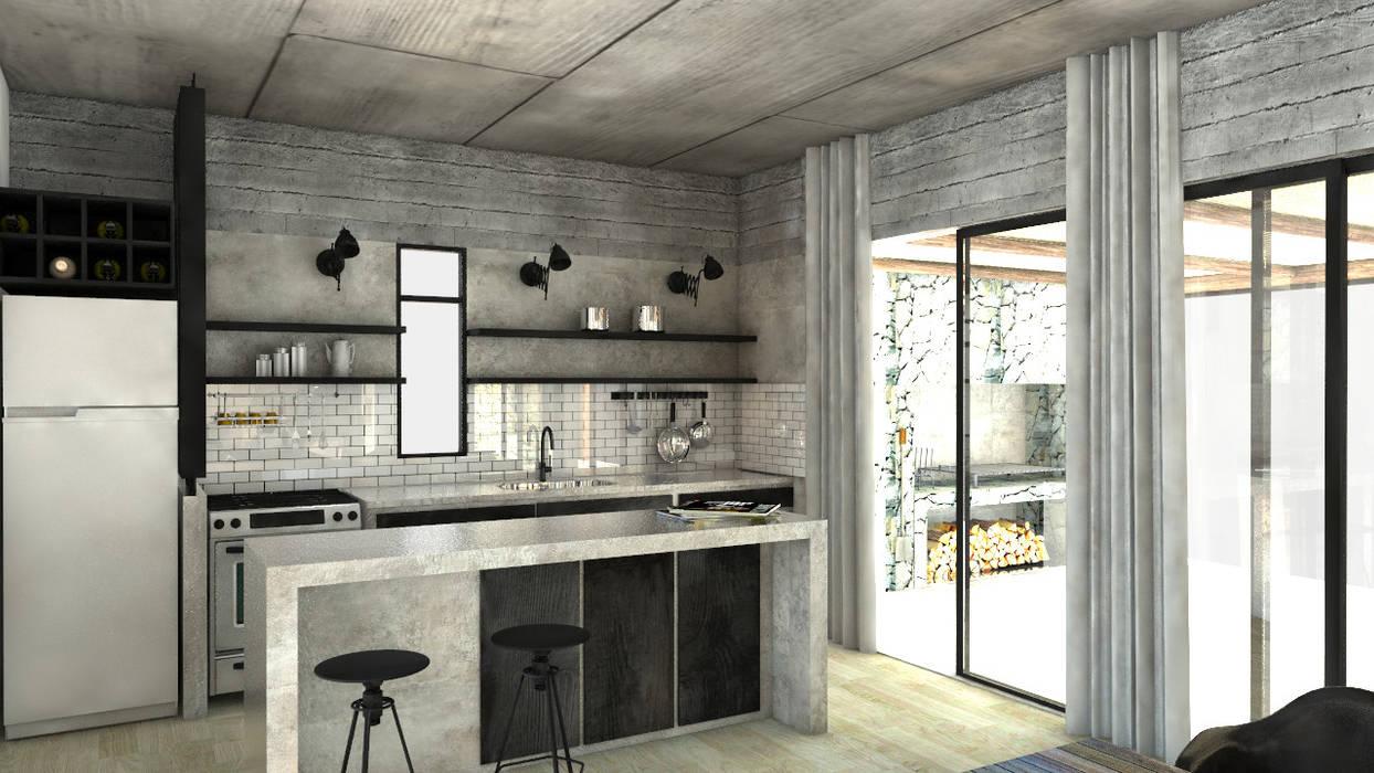 現代廚房設計點子、靈感&圖片 根據 FAARQ - Facundo Arana Arquitecto & asoc. 現代風