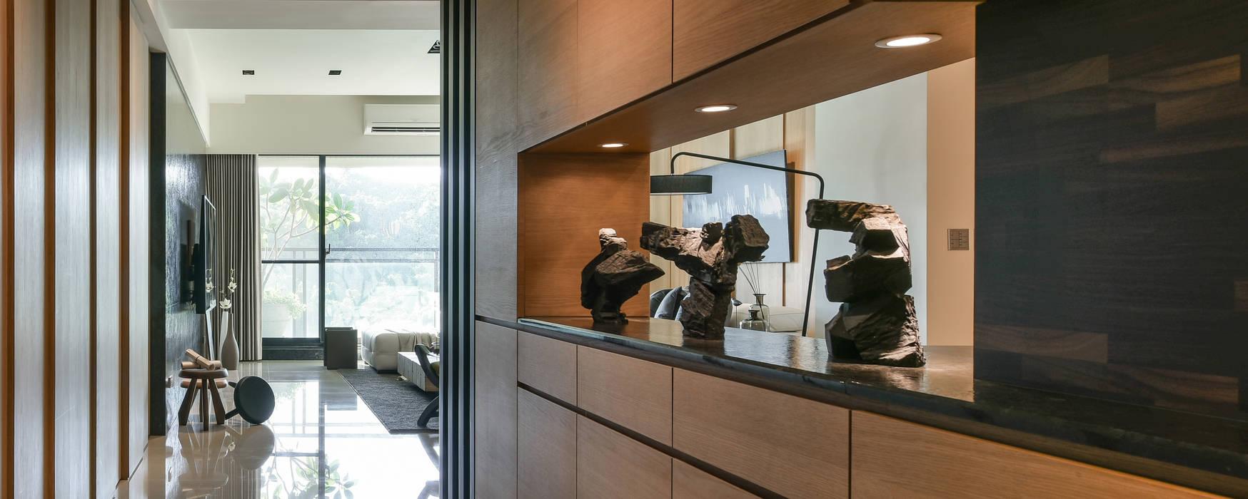 Quote 引景 亞洲風玄關、階梯與走廊 根據 CJ INTERIOR 長景國際設計 日式風、東方風
