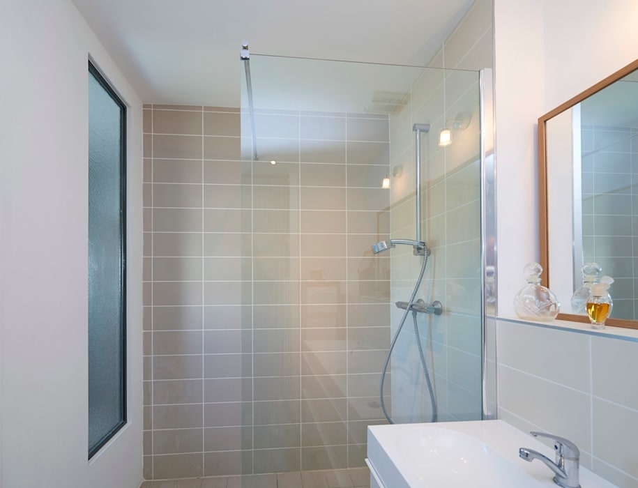 Douche à l\'italienne, salle de bain contemporaine, bordeaux ...