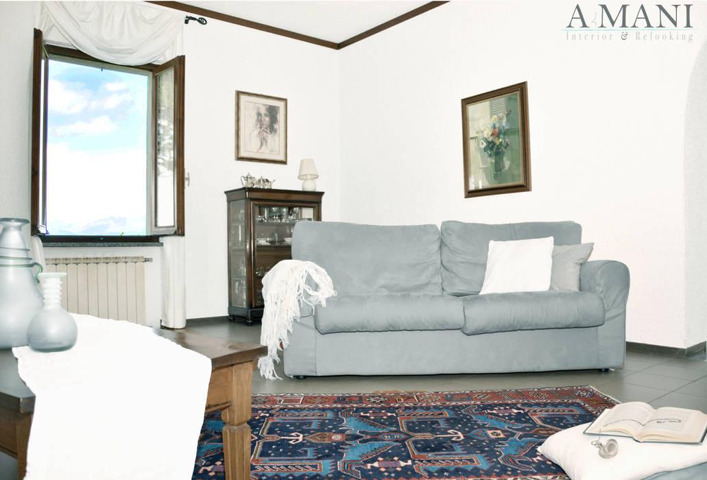 Living Room Soggiorno in stile mediterraneo di A4MANI - Interior & Architecture Mediterraneo