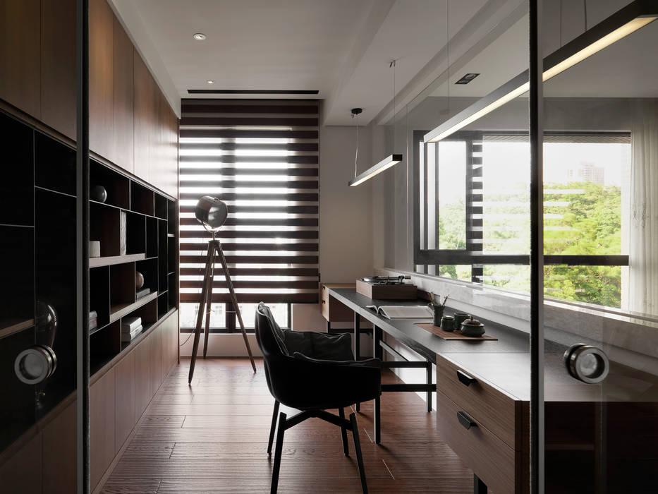 Asian style study/office by DYD INTERIOR大漾帝國際室內裝修有限公司 Asian