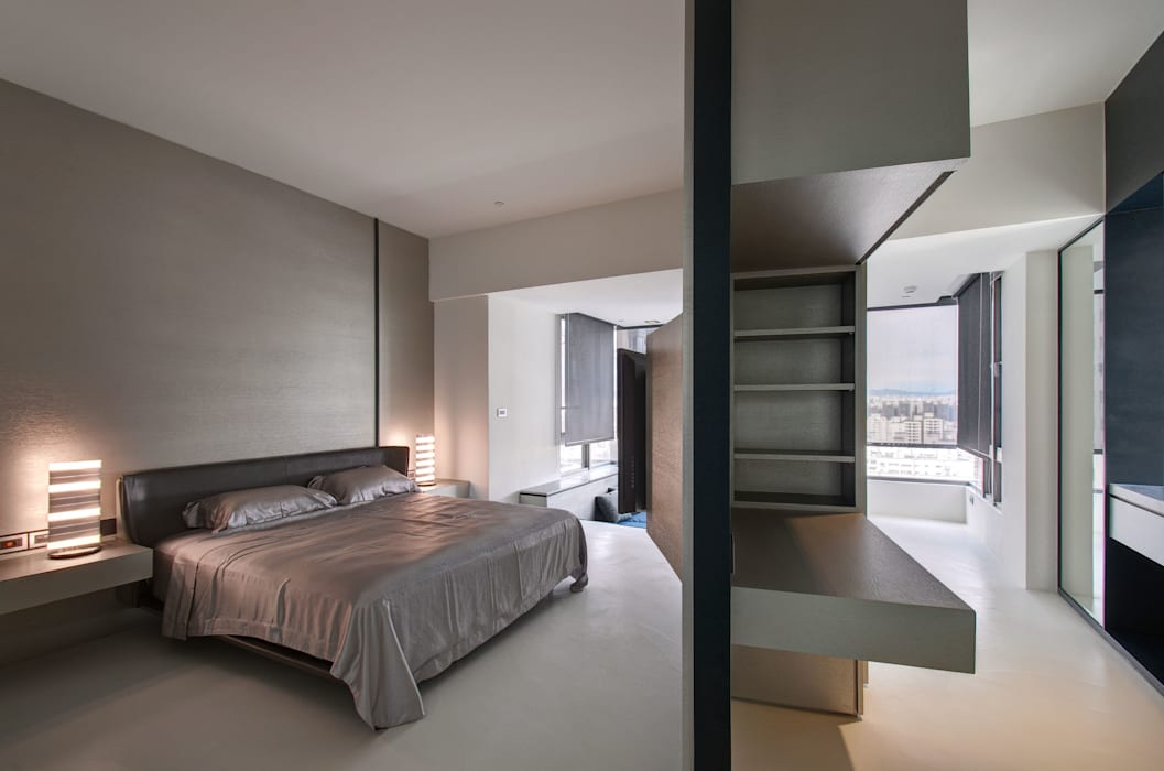 The New Quintessential Modern style bedroom by Taipei Base Design Center Modern