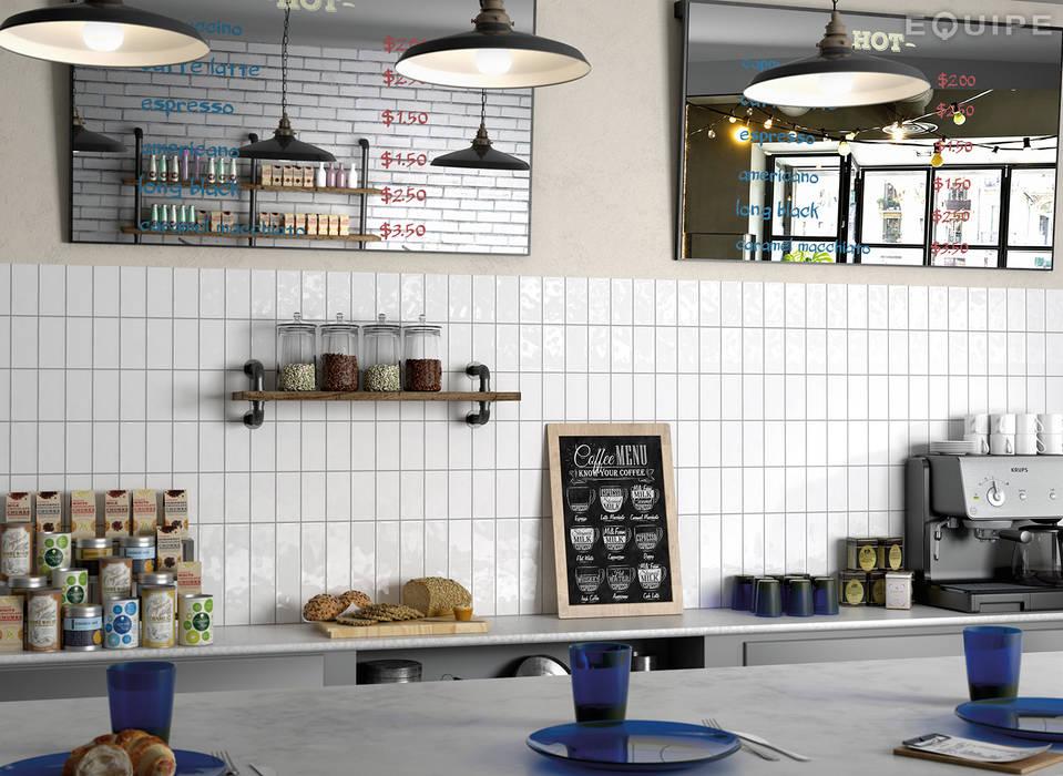Masía Blanco 7,5x15 / 7,5x30 Equipe Ceramicas Cocinas de estilo mediterráneo Cerámico Blanco