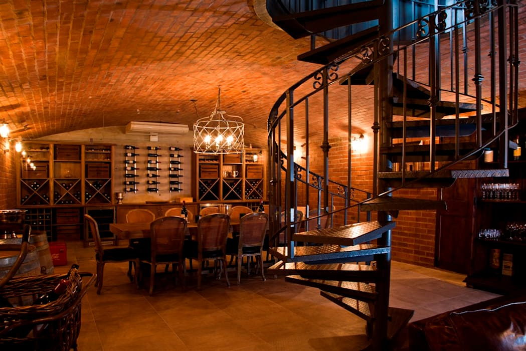 Beautiful Gowrie Farm:  Wine cellar by Walker Smith Architects,